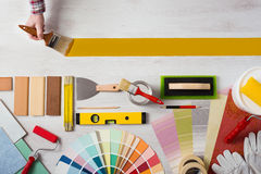 Painting and decorating DIY banner Royalty Free Stock Image
