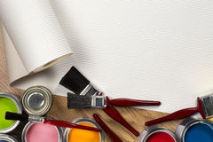 Painting and Decorating - Space for Text Stock Image