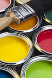 Painting and Decorating - Paint Tins Stock Photos