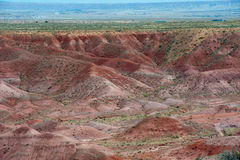 Painting the Desert. Overlook of the Painted Desert in Arizona royalty free stock image
