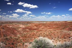 Painting Desert in  Petrified Forest NP. View of panorama Painting Desert in  Petrified Forest NP Stock Photography