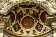 Painting details in the Opera Facade in Dresden Stock Photography