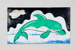 The Painting of dolphin Royalty Free Stock Image
