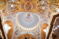 The painting on the dome of the Cathedral of the Sea Nikolsokgo Royalty Free Stock Photo
