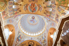 The painting on the dome of the Cathedral of the Sea Nikolsokgo Royalty Free Stock Image