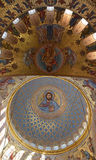 The painting on the dome of the Cathedral of the Sea Nikolsokgo. Kronstadt Royalty Free Stock Photo