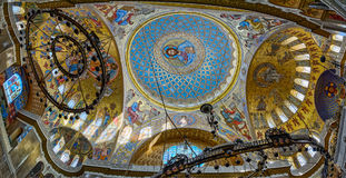 The painting on the dome of the Naval Cathedral of Saint Nichola Stock Photo
