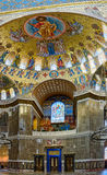 The painting on the dome of the Naval Cathedral of Saint Nichola Stock Photography