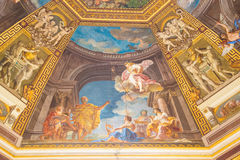 Painting on Domed Ceiling in Vatican Stock Photography