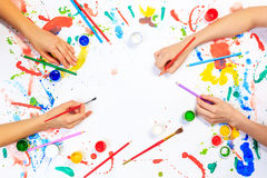 Painting and drawing hobby Royalty Free Stock Image