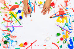 Painting and drawing hobby Stock Images