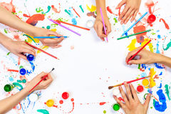 Painting and drawing hobby Royalty Free Stock Photography