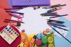Painting and Drawing Tools Set Stock Photography