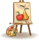 Painting on the easel Stock Photos