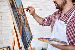Painting on easel Stock Photos