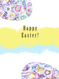 Painting Easter card. illustration with part of Easter egg. Hand painting. royalty free stock photo