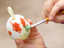 Painting Easter Egg Stock Photography