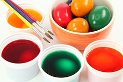 Painting easter egg Royalty Free Stock Photos