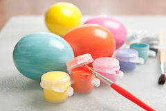 Painting Easter eggs Stock Photography