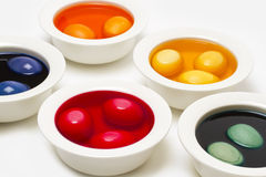 Painting easter eggs Royalty Free Stock Photography