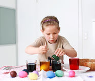 Painting Easter eggs Stock Image