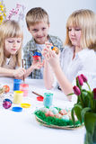 Painting Easter Eggs Stock Images