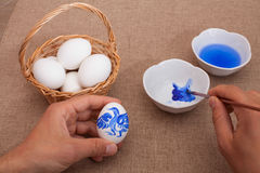 Painting easter eggs Stock Photo
