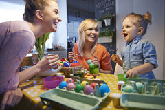 Painting easter eggs Royalty Free Stock Image