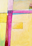 Painting - Edge of Abstraction no. 7. A modernist painting, a geometric abstraction Royalty Free Stock Images