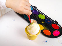 Painting egg Stock Photos