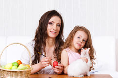 Painting eggs Royalty Free Stock Images
