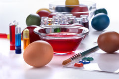 Painting eggs for Easter Stock Image