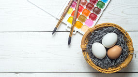 Painting eggs holiday Easter stock images