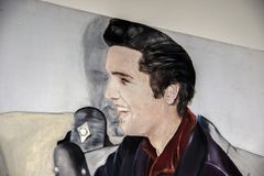 Painting Elvis 3 Generations By Jacqueline De Jong At The Stedelijk Museum At Amsterdam The Netherlands 2019.  stock photo