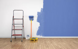 Painting empty room Royalty Free Stock Photos