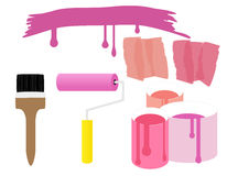 Painting equipment illustration Royalty Free Stock Photo