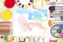 Painting equipment Stock Photography