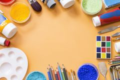 Painting equipment royalty free stock photo
