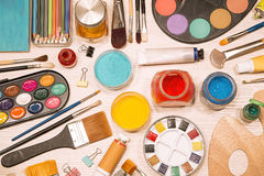 Painting equipment Royalty Free Stock Images