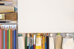 Painting equipments Royalty Free Stock Photos
