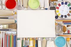 Painting equipments stock photos