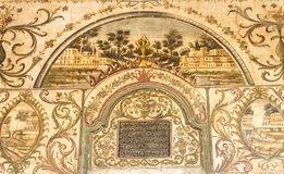 Painting in Et'hem Bey Mosque. Stock Images