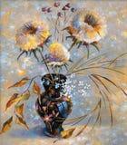 Artwork. Dry flowers. Author: Nikolay Sivenkov. vector illustration