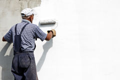 Painting the facade Stock Photos