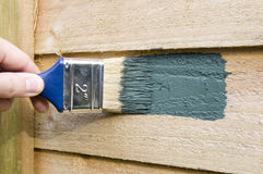 Painting the fence royalty free stock photo