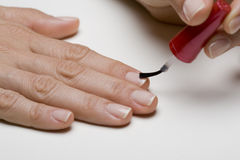 Painting Fingernails Stock Image