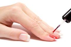 Painting Fingernails stock photography