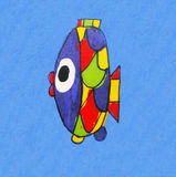A painting of the fish. A colorful painting of the fish Stock Images
