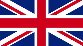 Painting Flag - United Kingdom (UK). Roller painting British flag on the wall stock video footage
