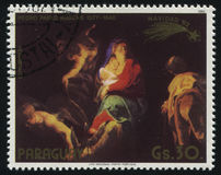 Painting Flight to Egypt by Rubens Stock Photography